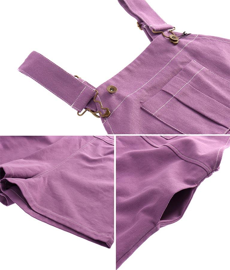 ツイルショートパンツオーバーオール(ワンピース・ドレス/サロペット/オールインワン)   anap mimpi
