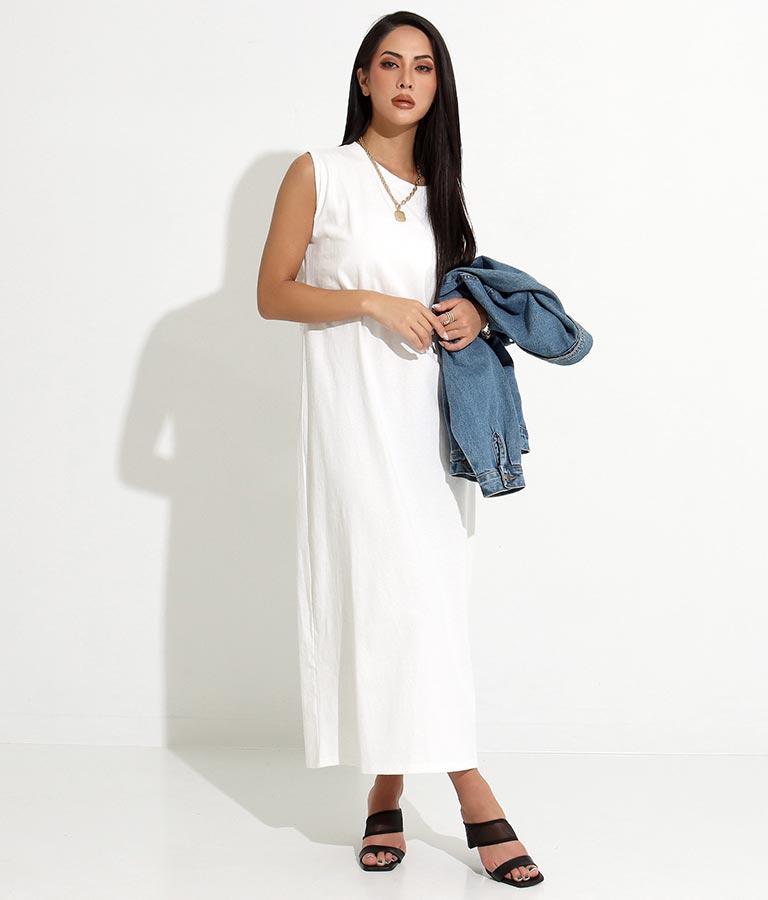 バックツイストノースリーブワンピース(ワンピース・ドレス/ロングワンピ) | anap Latina