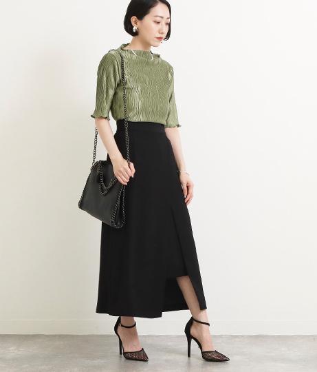 【低身長向けサイズ】レイヤード風タイトスカート(ボトムス・パンツ /スカート) | AULI