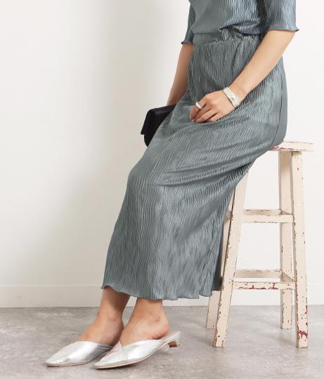 【低身長向けサイズ】ギラギラプリーツスカート