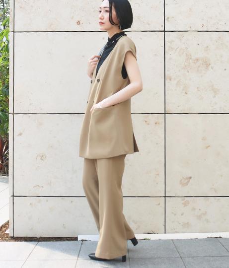 【低身長向けサイズ】センタースリットパンツ(ボトムス・パンツ /スカート) | AULI