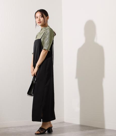 【低身長向けサイズ】サテンキャミワンピース(ワンピース・ドレス/ロングワンピ) | AULI