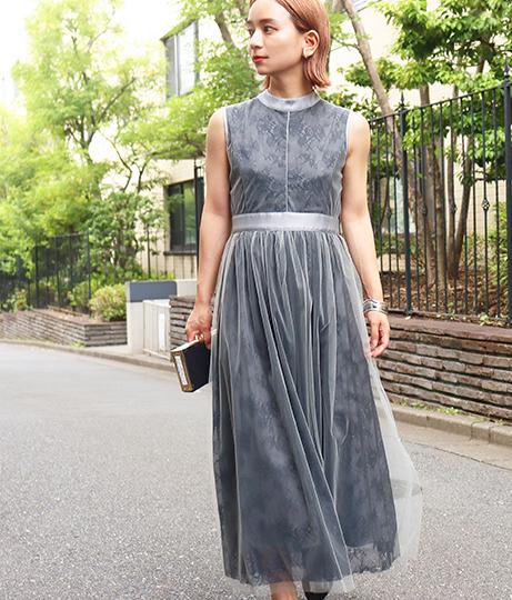 【低身長向けサイズ】チュール×レースワンピース(ワンピース・ドレス/ドレス・パーティードレス) | AULI