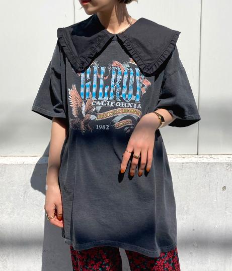 GILROYイーグルプリントビッグTシャツ