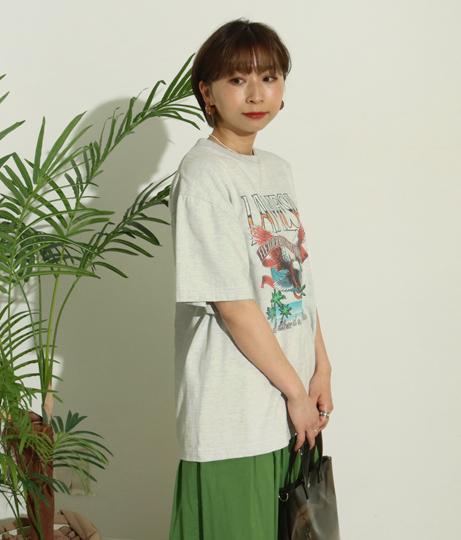 LAMESAイーグルプリントTシャツ(トップス/Tシャツ)   Factor=