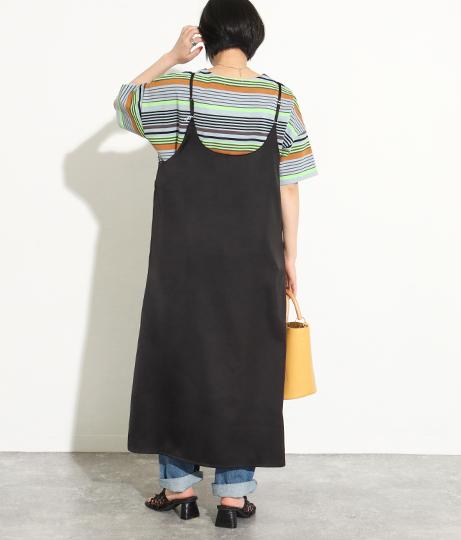 2WAYサテンキャミワンピース(ワンピース・ドレス/ロングワンピ) | Factor=