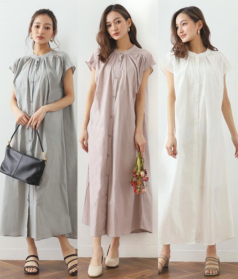 タックシャツワンピース(ワンピース・ドレス/ロングワンピ) | CHILLE