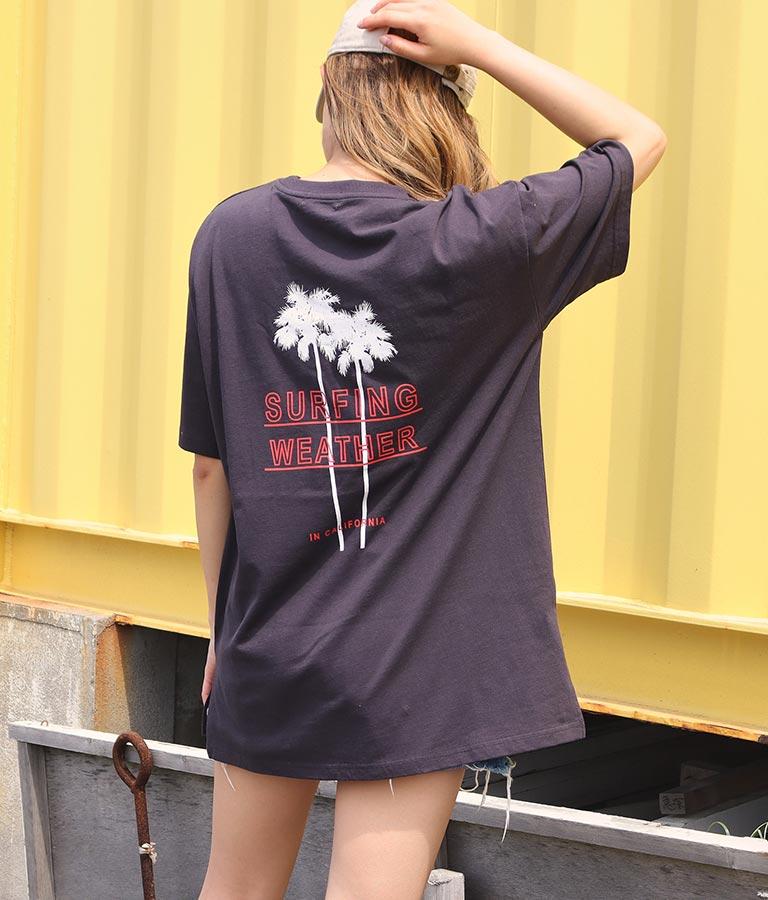 パームツリープリントTシャツ(トップス/Tシャツ)   anap mimpi