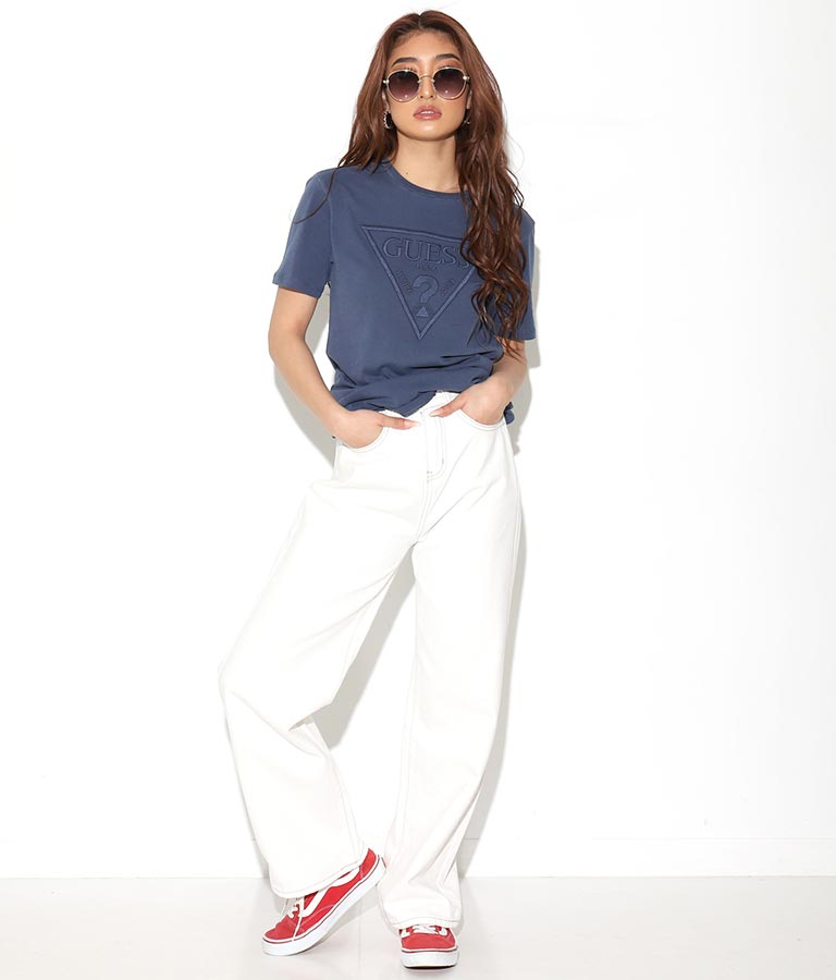 ES SS EMBROIDERED LOGO TEE(トップス/Tシャツ) | GUESS