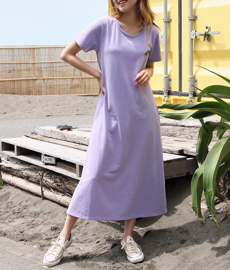 フラミンゴプリントスリットマキシワンピース(ワンピース・ドレス/ロングワンピ)   anap mimpi