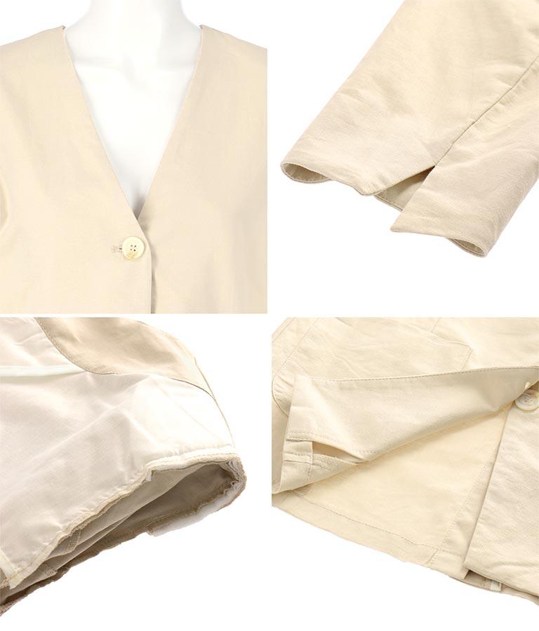 リネンライクジャケット(アウター(コート・ジャケット) /ジャケット・ブルゾン) | Alluge