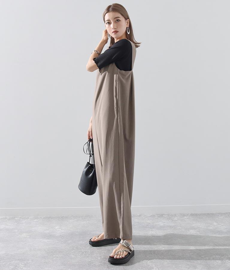 後ろタックデザインコンビネゾン(ワンピース・ドレス/サロペット/オールインワン)   Alluge