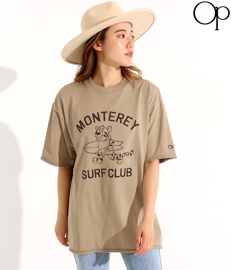カレッジ風プリントTシャツ