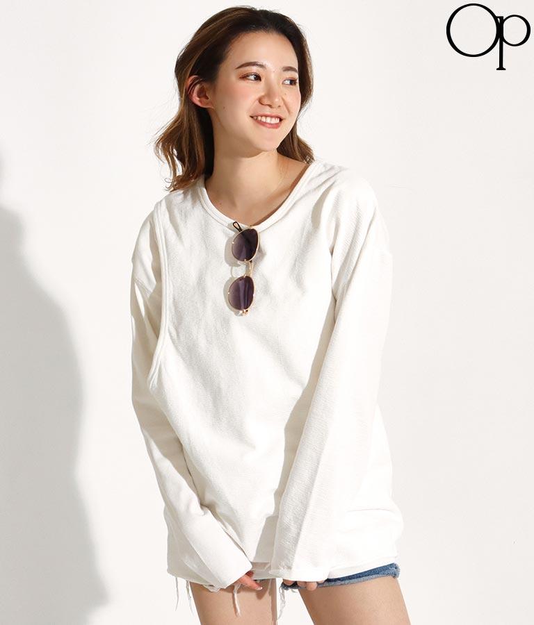 レイヤードデザインロングTシャツ