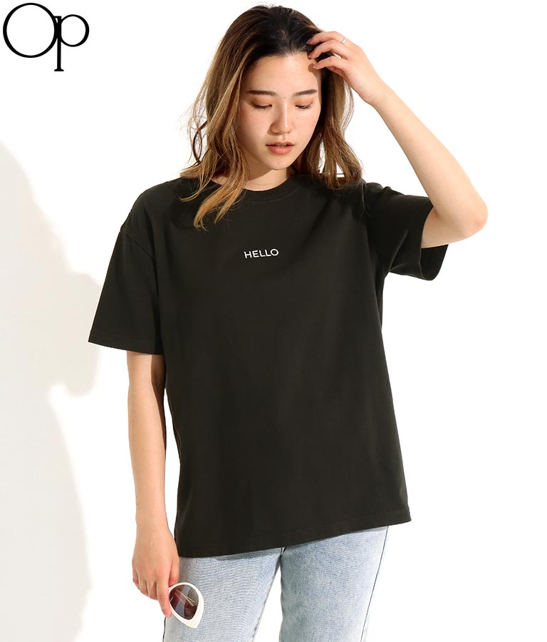 配色ロゴプリントTシャツ