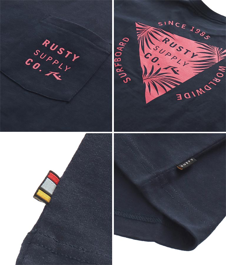 トライアングルプリントTシャツ(トップス/Tシャツ) | RUSTY