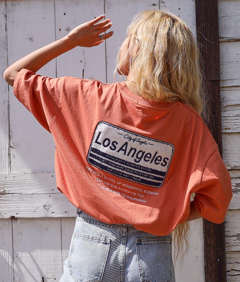 サガラ刺繍プレートTシャツ(トップス/Tシャツ) | anap mimpi