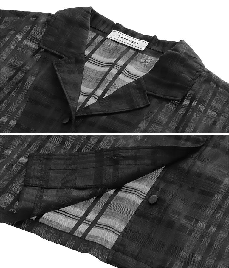 シアーチェックショート丈開襟シャツ(トップス/シャツ・ブラウス) | Settimissimo