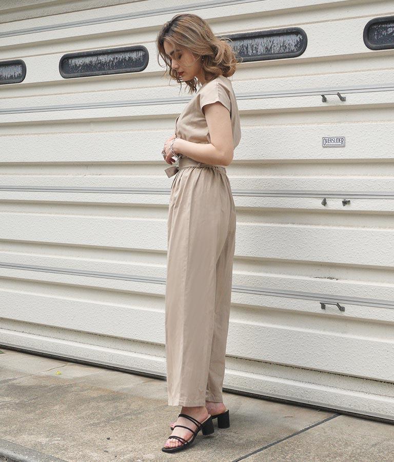 リネンブレンドオールインワン(ワンピース・ドレス/サロペット/オールインワン) | ANAP