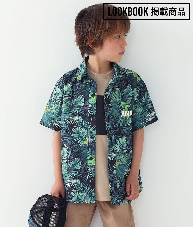 リーフ柄シャツ