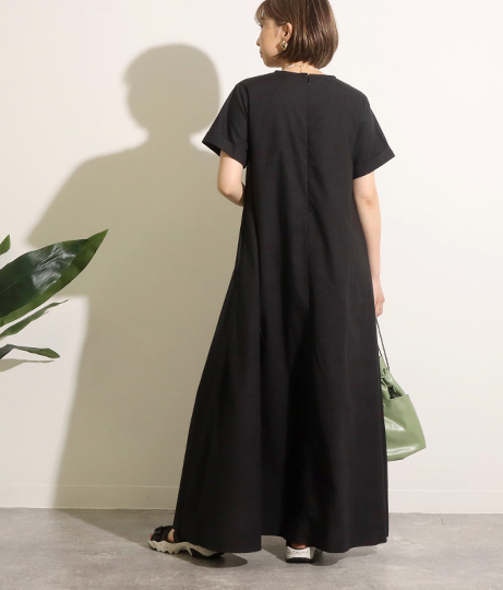 Aラインロングワンピース(ワンピース・ドレス/マキシ丈ワンピース) | Factor=