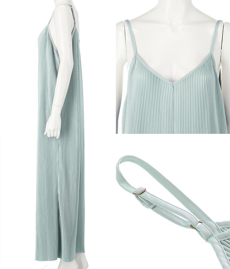 プリーツサロペット(ワンピース・ドレス/サロペット/オールインワン) | Alluge
