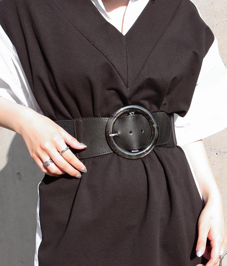 マーブルカラーバックルウエストゴムベルト(ファッション雑貨/ベルト) | Settimissimo