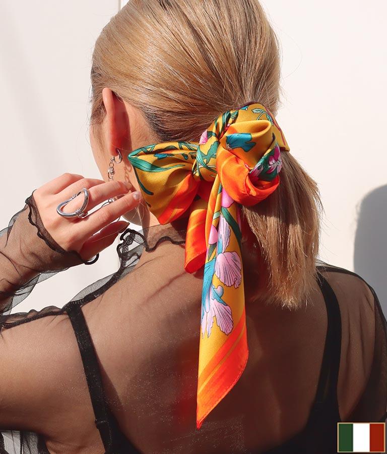 花柄プリントスカーフ(ファッション雑貨/マフラー・ストール ・スヌード・スカーフ ) | Settimissimo