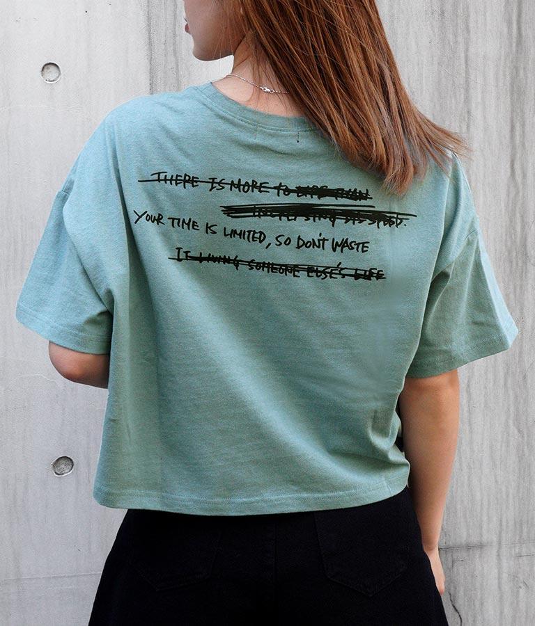 プリントクロップドダメージTシャツ(トップス/Tシャツ) | ANAP