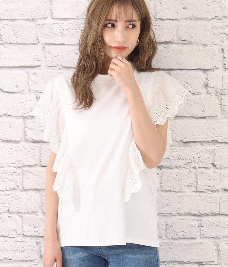 オーバーレースTシャツ