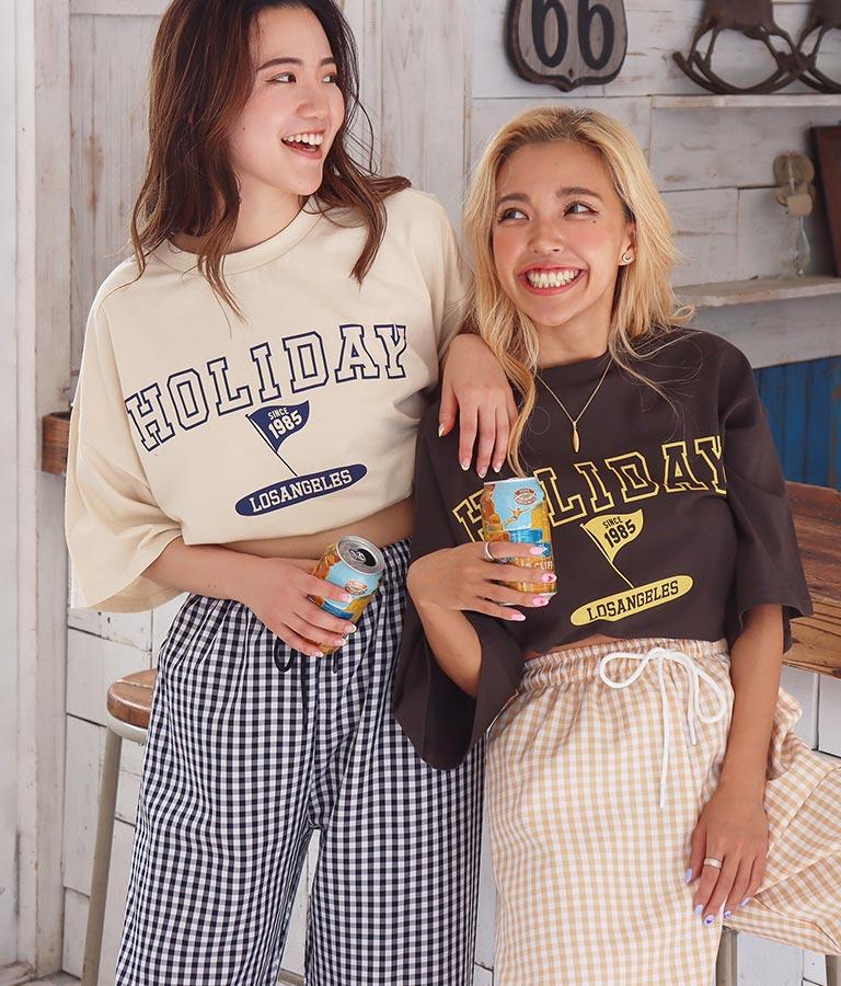 カレッジプリントビックTシャツ