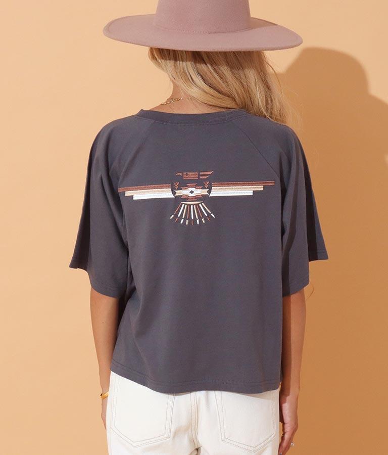 オルテガイーグルラグランスリーブTシャツ(トップス/Tシャツ)   anap mimpi