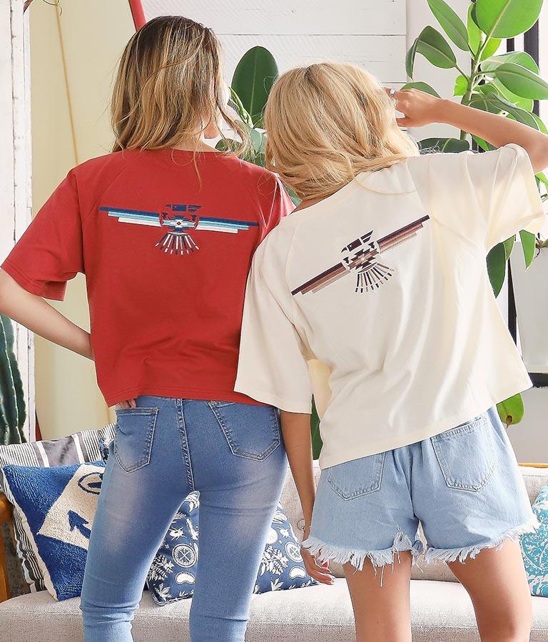 オルテガイーグルラグランスリーブTシャツ