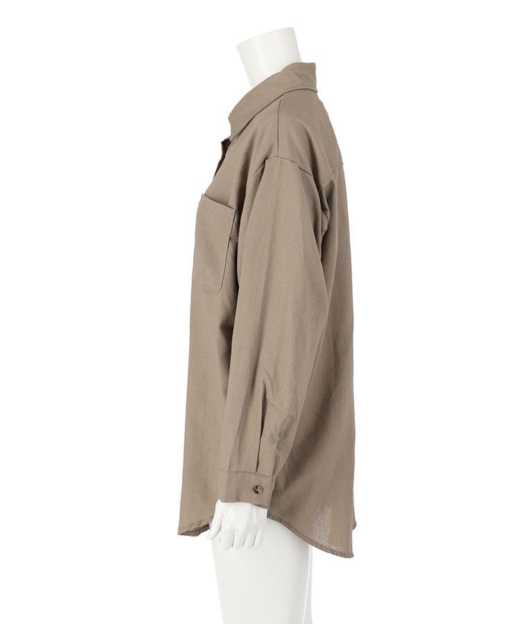 リネンブレンドオーバーサイズシャツ(トップス/シャツ・ブラウス) | ANAP