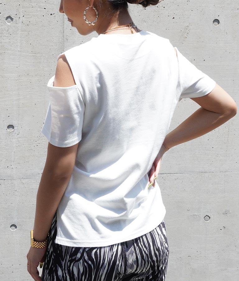 オープンショルダーTシャツ(トップス/Tシャツ) | ANAP