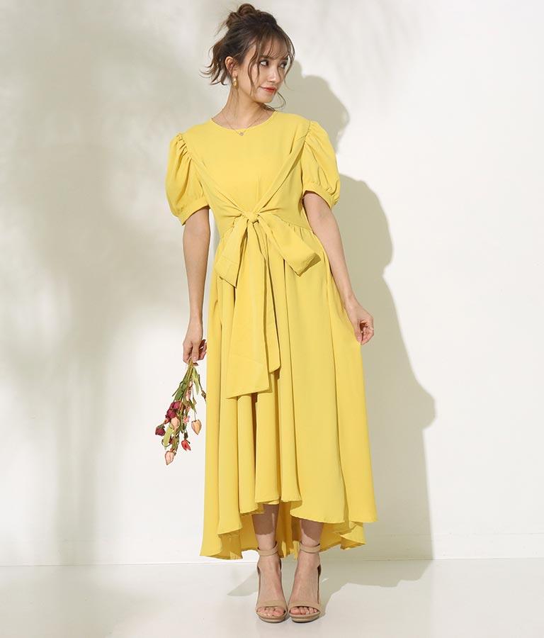 パフスリーブイレギュラーヘムワンピース(ワンピース・ドレス/ロングワンピ) | CHILLE