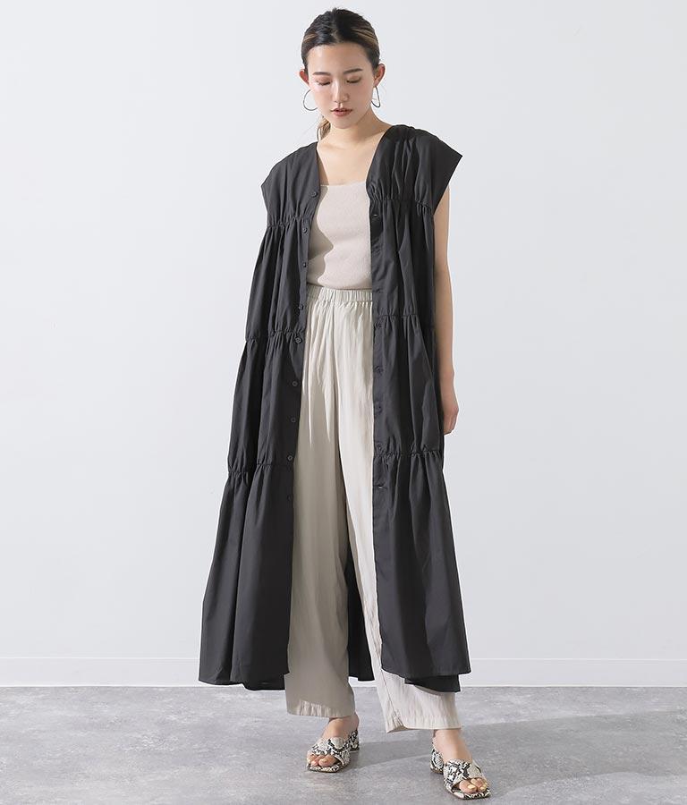 2WAYティアードワンピース(ワンピース・ドレス/ロングワンピ・マキシ丈ワンピース)   Alluge