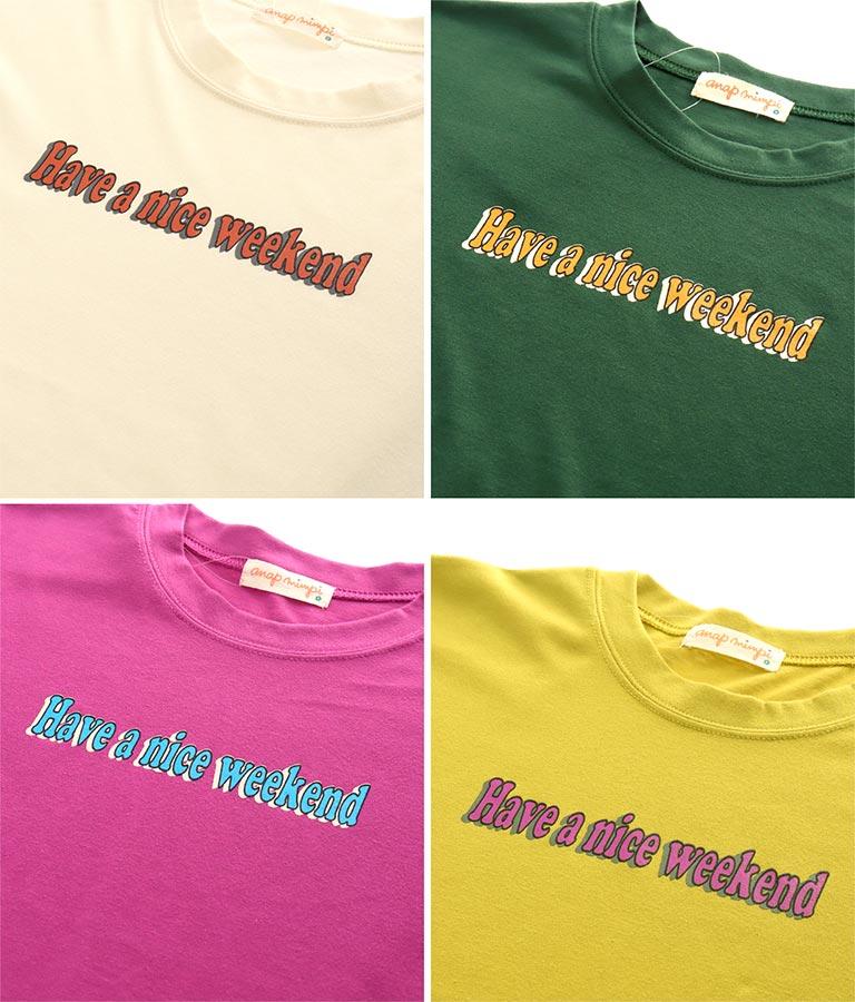 レトロ配色プリントビックTシャツ(トップス/Tシャツ)   anap mimpi