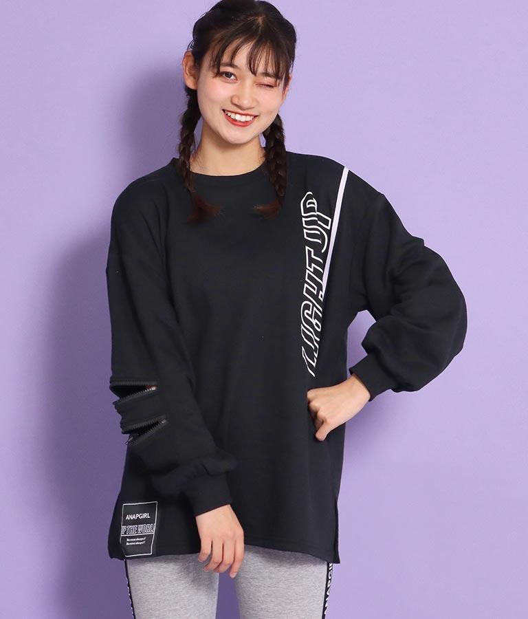 2ジップビッグロンT(トップス/Tシャツ・ロングTシャツ) | ANAP GiRL