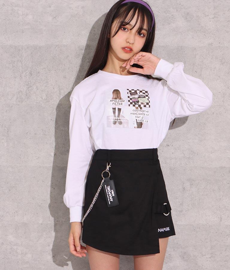 チェーン付デザインスカパン(ボトムス・パンツ /ショートパンツ・スカート)   ANAP GiRL