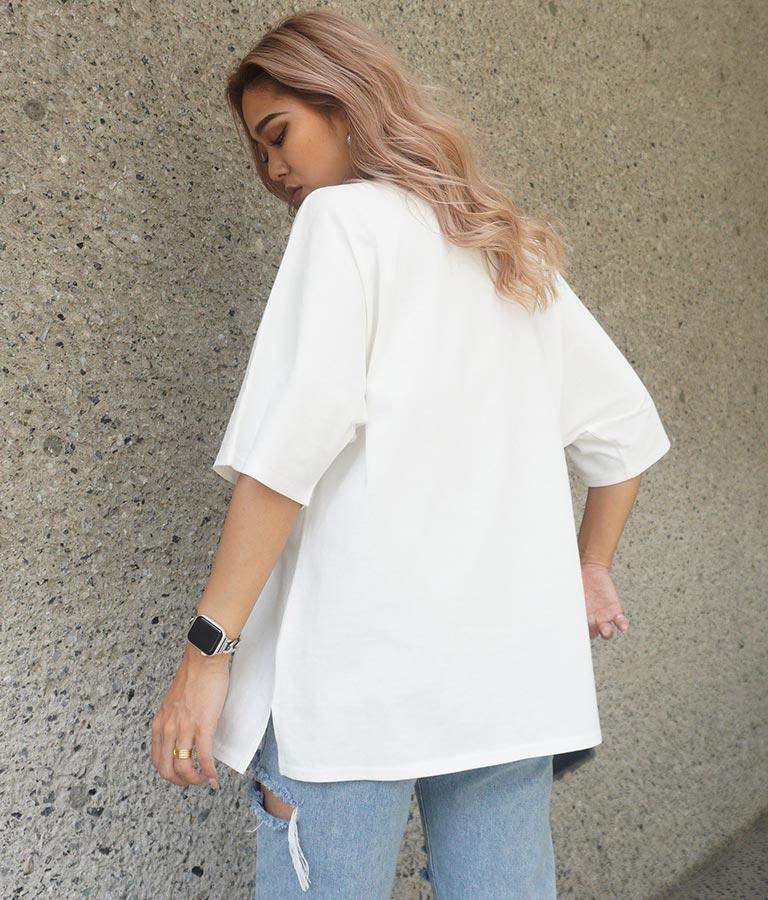 フォトプリントドルマンTシャツ(トップス/Tシャツ) | ANAP
