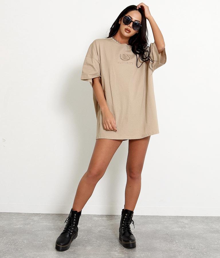 刺繍オーバーサイズTシャツ(トップス/Tシャツ・チュニック) | anap Latina