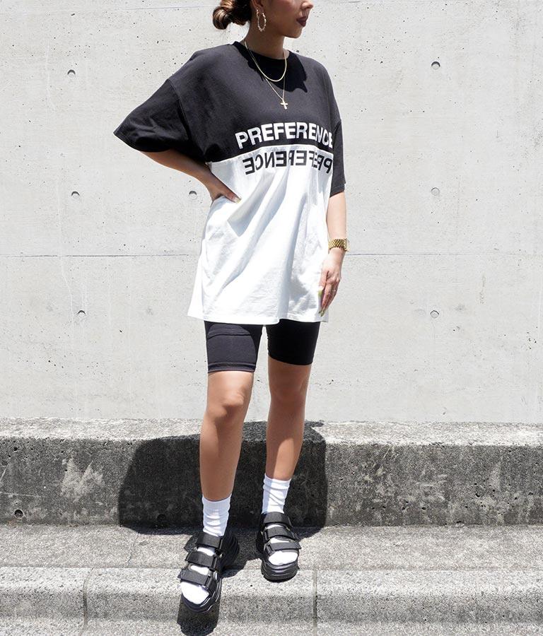バイカラープリントビッグTシャツ(トップス/Tシャツ) | ANAP
