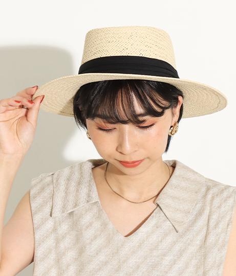 シンプル麦ワラ帽子