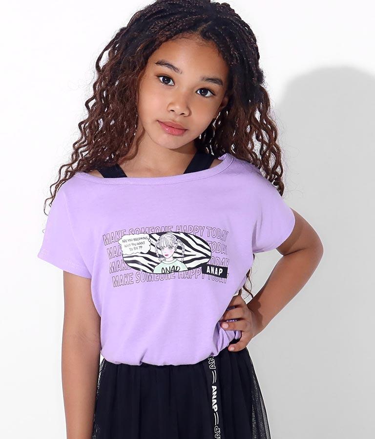 ファッショニスタ重ね着風トップス(トップス/Tシャツ・カットソー ) | ANAP KIDS