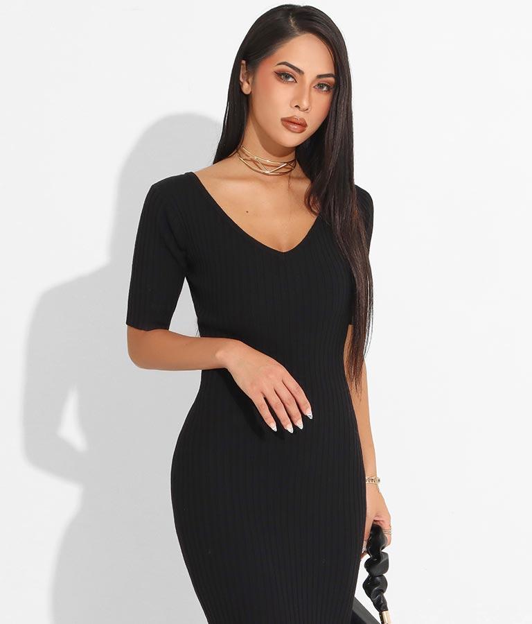 半袖ソフトタッチリブワンピース(ワンピース・ドレス/ロングワンピ)   anap Latina