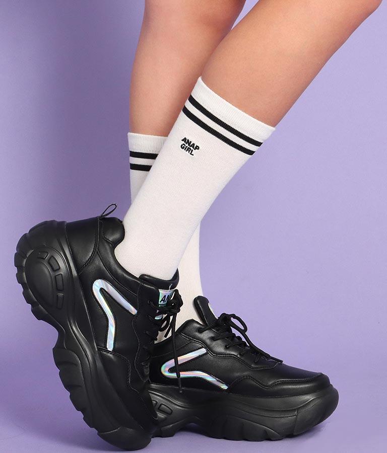 ふくらはぎ丈ソックス(ファッション雑貨/ソックス・靴下)   ANAP GiRL