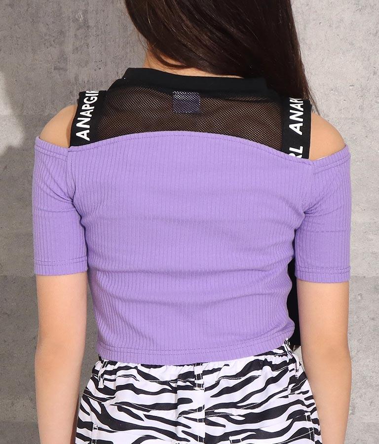 肩開き前ジップトップス(トップス/カットソー ) | ANAP GiRL