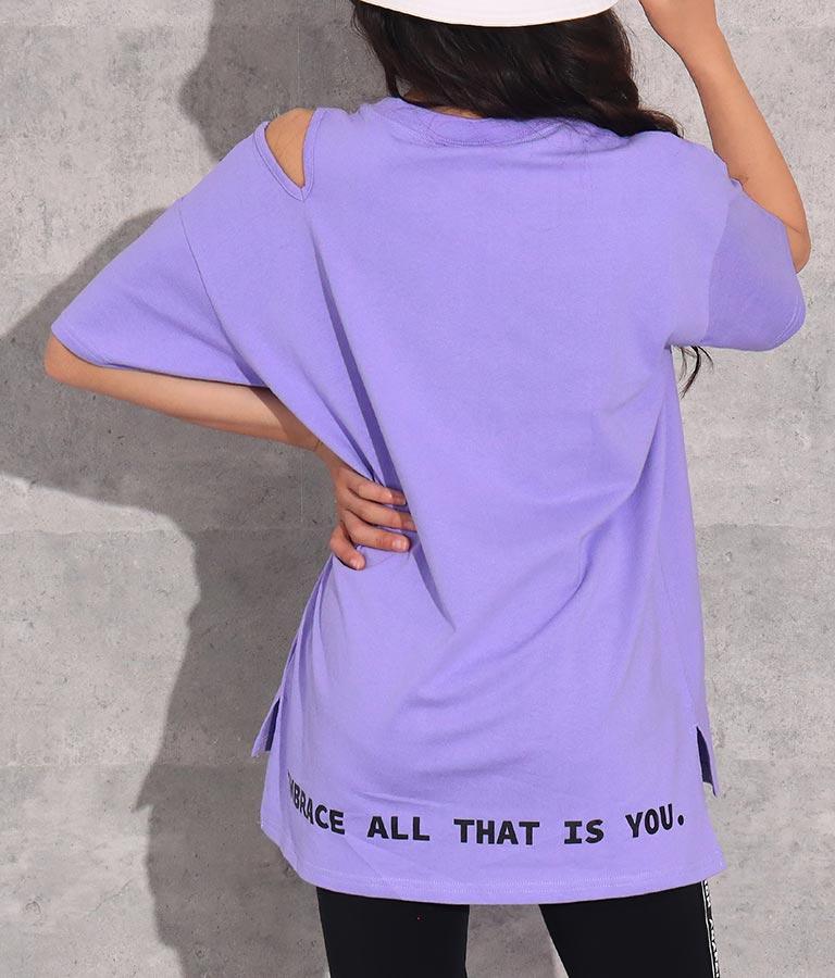肩スリット入りビッグチュニックトップス(トップス/Tシャツ) | ANAP GiRL