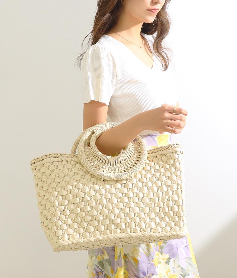 ラウンドハンドルペーパーバッグ(バッグ・鞄・小物/ハンドバッグ・トートバッグ)   CHILLE